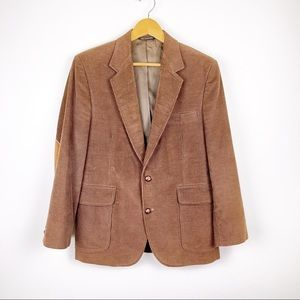 HAGGAR Brown Corduroy Elbow Patch Sports Coat